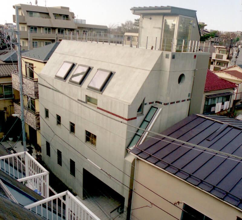 デザイナーによるおしゃれな注文住宅(豊島区)の外観(俯瞰)写真
