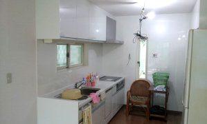 リフォーム中のキッチンの写真