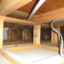 天井裏から耐震診断