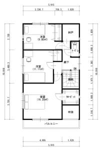 建築プラン(例)2階
