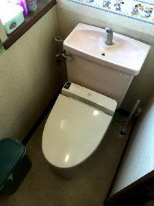 リフォーム前のトイレ