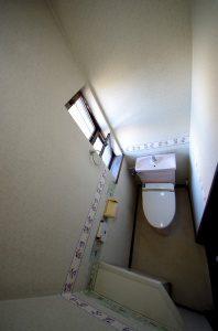 リフォーム前のトイレの全景