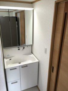 リフォーム後の洗面脱衣所