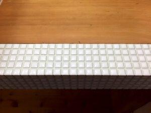 リフォーム後の洗面台のタイル