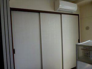 リフォーム後は、完全に洋室となった。押し入れはクローゼットとなり、ウォークインすることも可能。エアコンの位置も合わせて変わっている。
