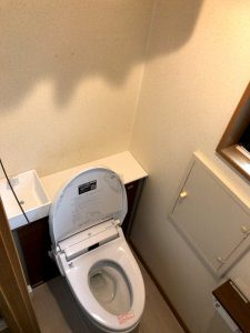 リフォーム後は節水型のトイレに