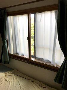 窓が二重となっています