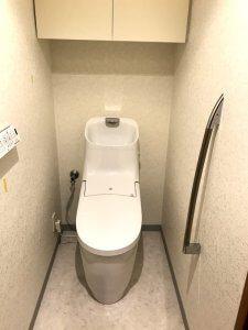 リフォーム後のお洒落なトイレ